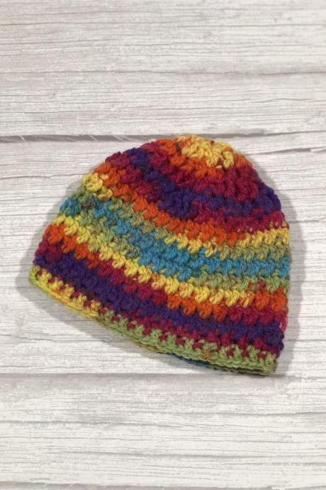 Crochet hat, Child hat, Teen hat, Colorful , Unique 019