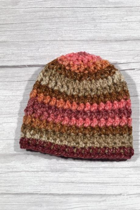 Crochet hat, Child hat, Teen hat, Colorful , Unique 014
