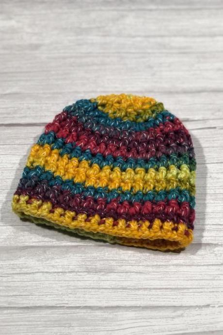 Crochet hat, Child hat, Teen hat, Colorful , Unique 013
