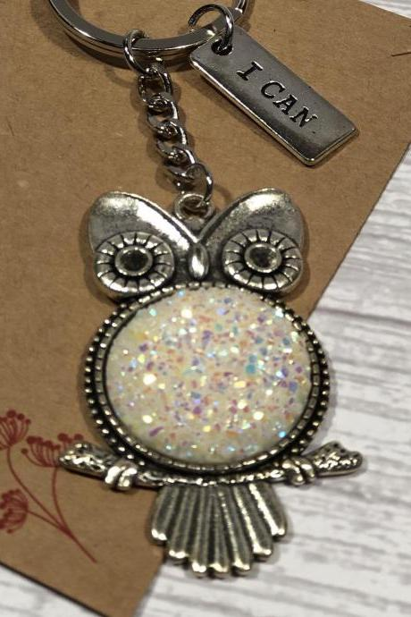 Keychain, Beautiful Gift, Unique Keychain, Gift Idea, Unique Gift, Teen, Adult, Owl
