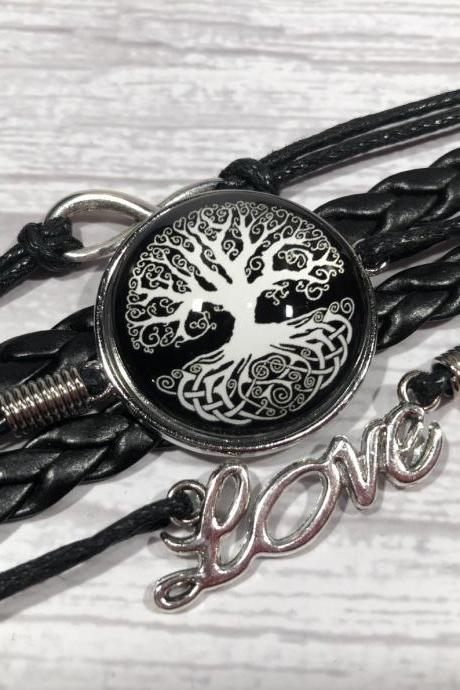 Black and white edition bracelet - Tree of life - Gift ideas - beautiful - nr.9