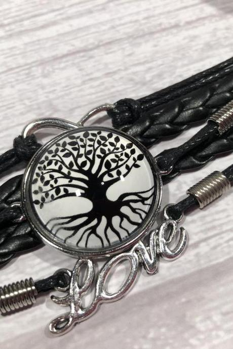 Black and white edition bracelet - Tree of life - Gift ideas - beautiful - nr.8