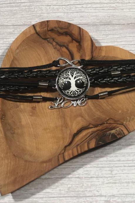 Black and white edition bracelet - Tree of life - Gift ideas - beautiful - nr.7