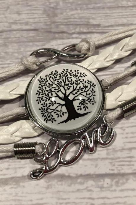 Black and white edition bracelet - Tree of life - Gift ideas - beautiful - nr.6