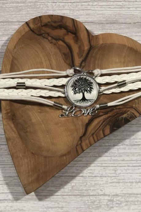 Black and white edition bracelet - Tree of life - Gift ideas - beautiful - nr.5