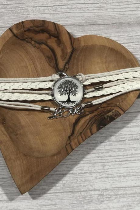 Black and white edition bracelet - Tree of life - Gift ideas - beautiful - nr.4