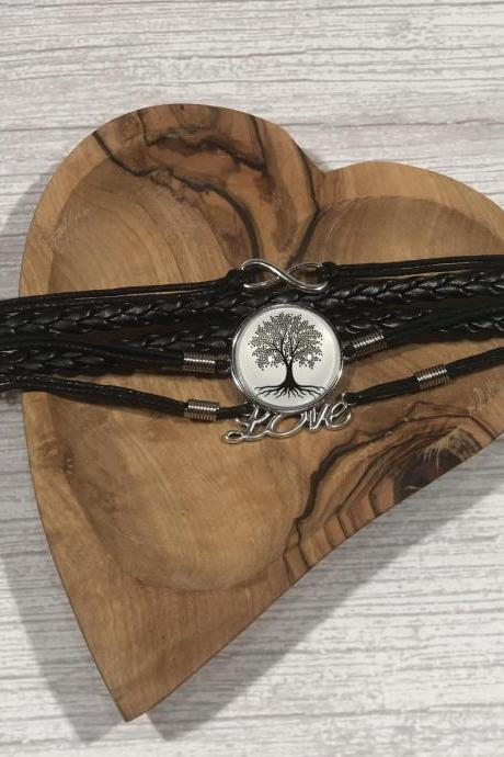 Black and white edition bracelet - Tree of life - Gift ideas - beautiful - nr.2