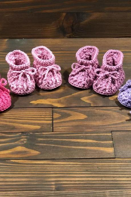 Crocheted slippers - Organic Cotton - Limited Edition - New - Newborn Baby - Baby Gift