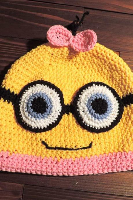Crochet hat, Minion girl